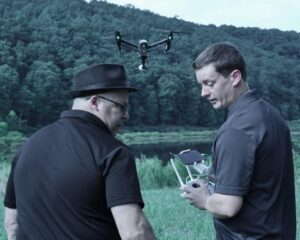 Frank Calo and Drone Operator, Ben George