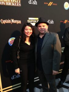 Actress Francesca Calo and Director Frank Calo at Premiere