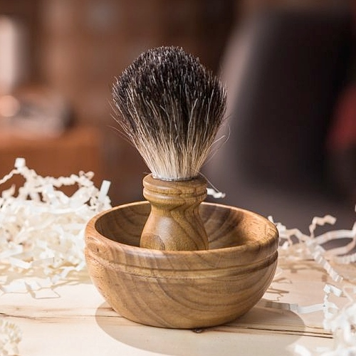 Georgecraft - Badger Hair Shave Brush and Scuttle Set