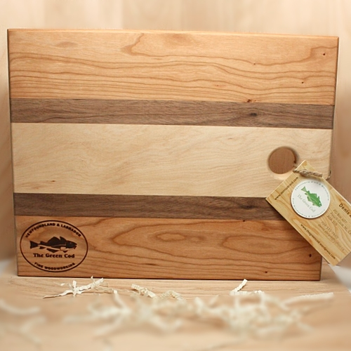 The Green Cod - Cutting Board- Cherry, Walnut and Birch Wood