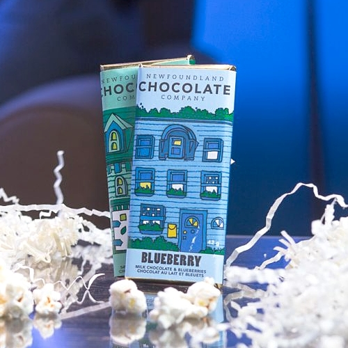 Newfoundland Chocolate Company - Milk Chocolate Bar with Blueberry + Dark Chocolate Bar with Mint