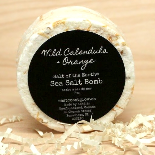 East Coast Glow - Wild Calendula and Orange Sea Salt Bath Bombs