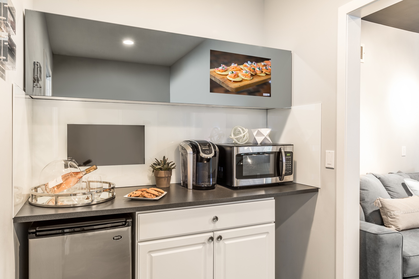 Kitchen TV Concealment Design