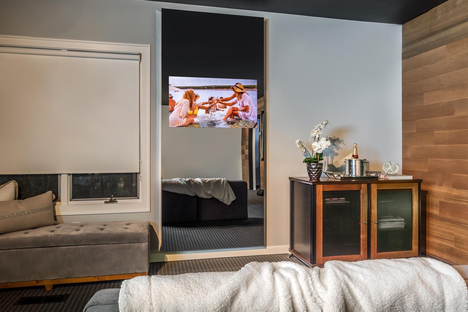 Vertical TV Mirror On