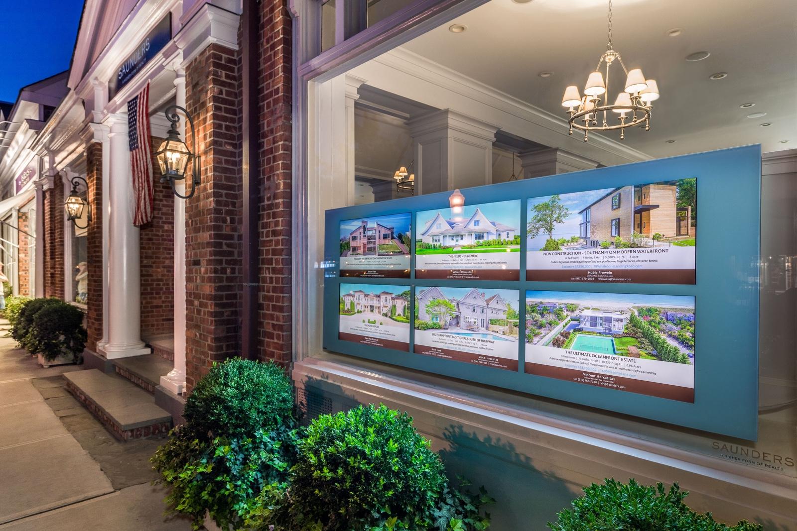 commercial tv window display designs