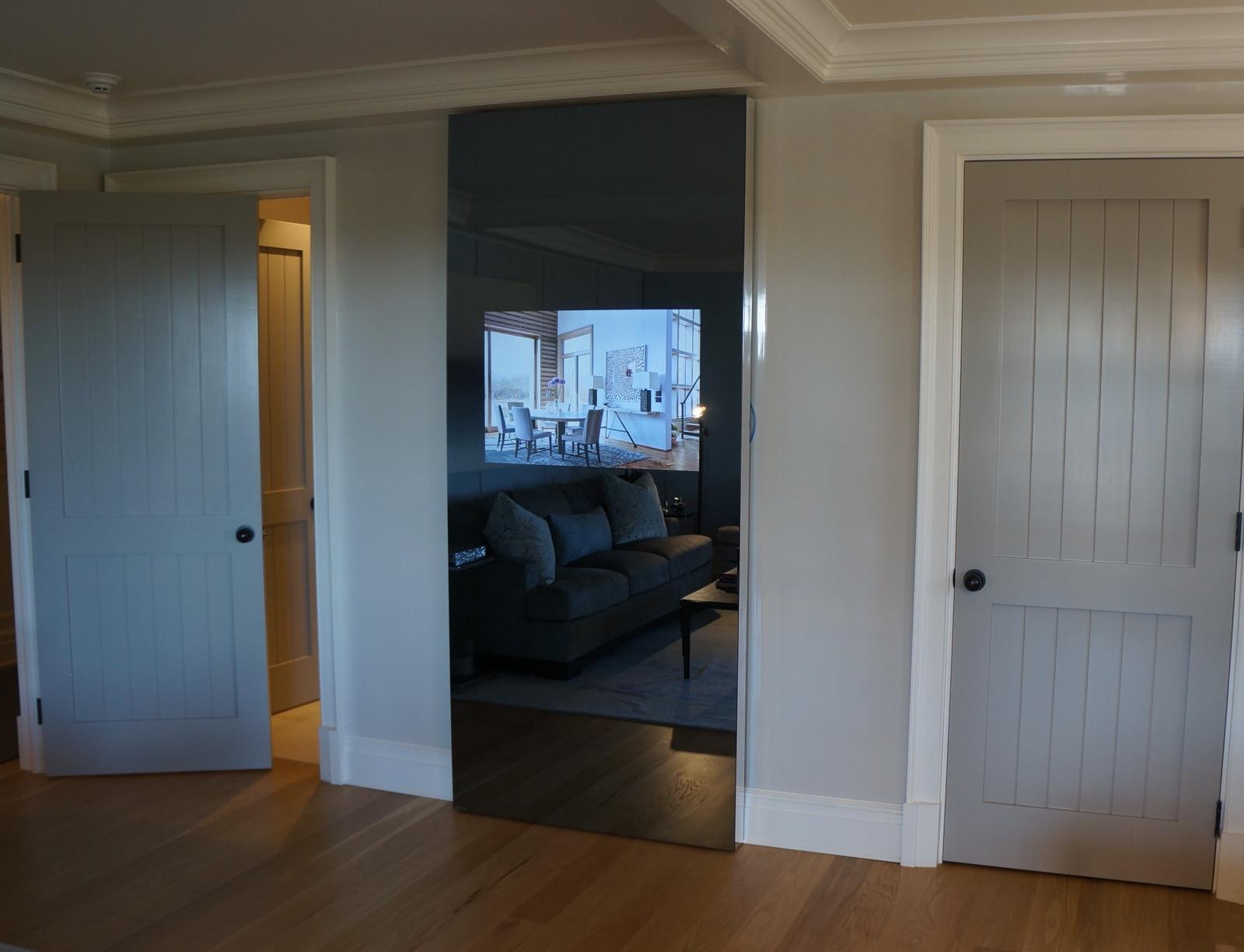 hidden tv vertical strip livingroom on