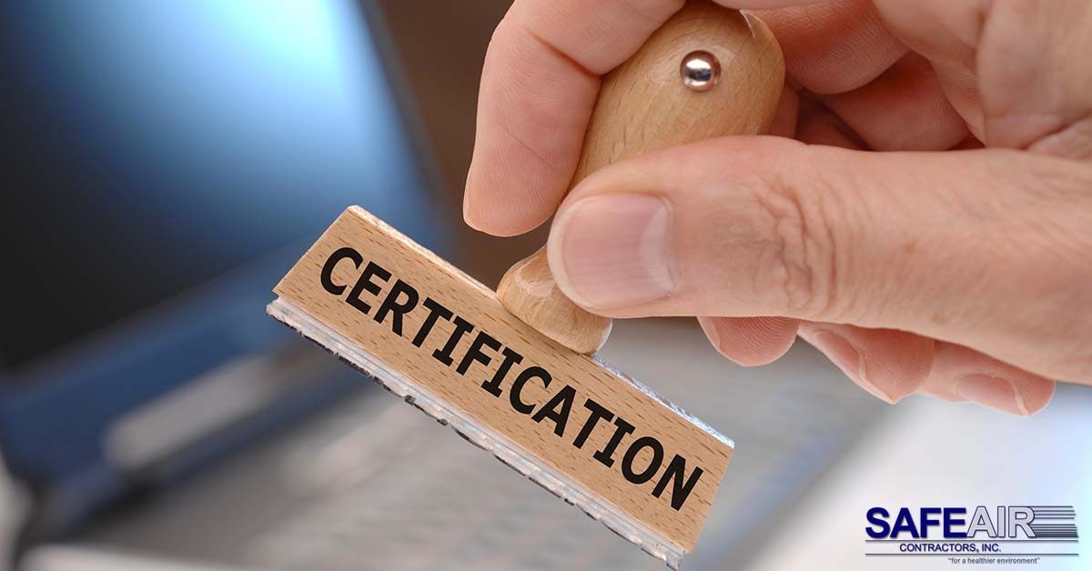 mold certification