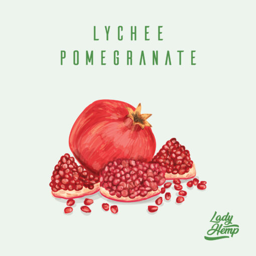 lychee pomegranate by lady hemp
