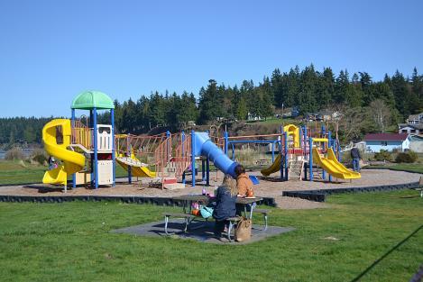Playground at Freeland Park on Holmes Harbor
