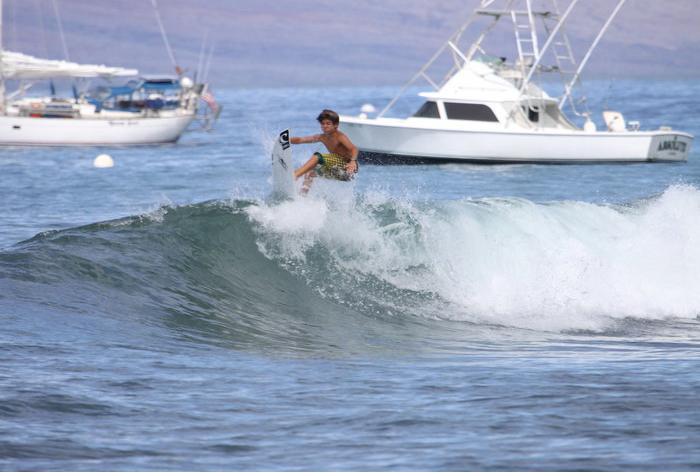 Lahaina Harbor surfing