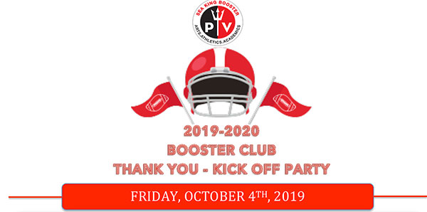 Booster Club Thank You & Kick-Off Party 2019   October 4th