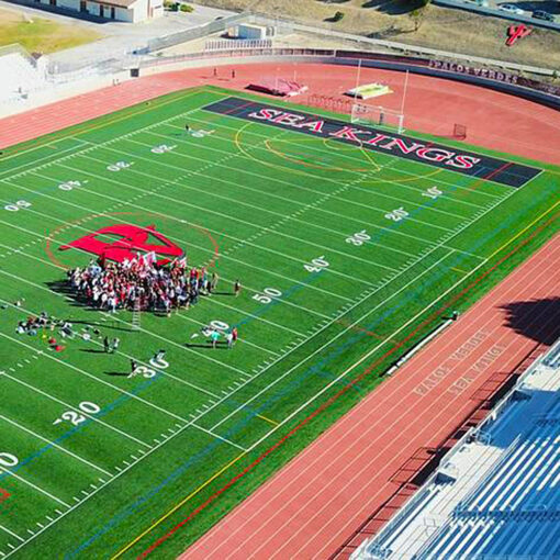 Palos Verdes High School Sea King Stadium aerial view