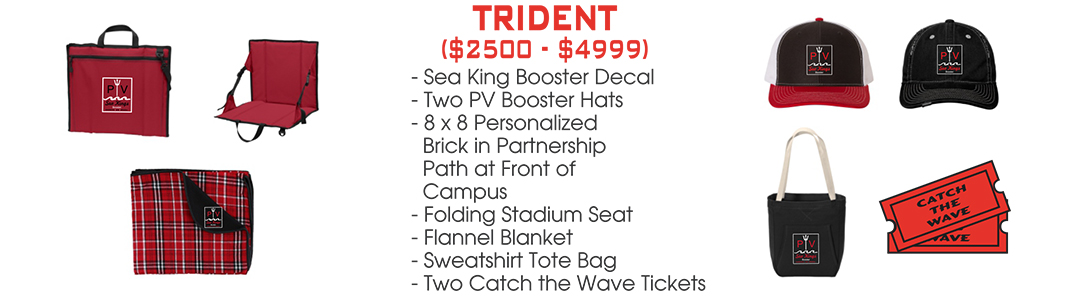 Join PV Booster Club 2020 membership levels - Trident level