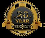 20 Years Warranty