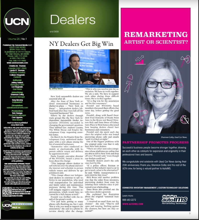 used car news article