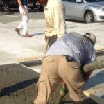 Pouring a Sidewalk