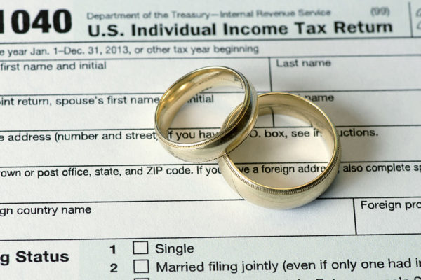 Wedding rings on income tax return.