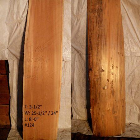 Western Red Cedar 3.5 in X 25 in X 8'