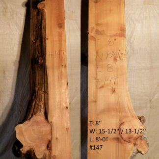 Alaskan Yellow Cedar 8 in X 14 in X 8'
