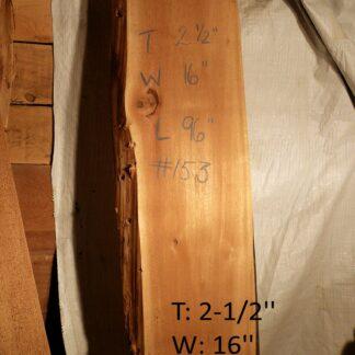 Western Red Cedar 2.5 in X 16 in X 8'