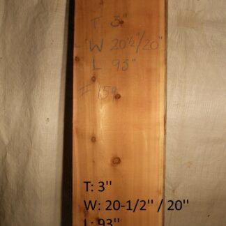 Western Red Cedar 3 in X 20 in X 8'