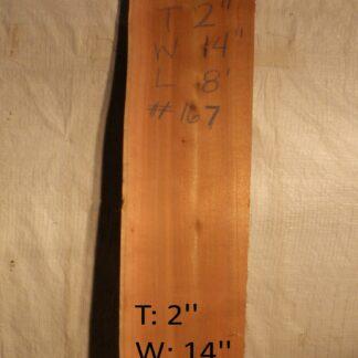 Western Red Cedar 2 in X 14 in X 8'