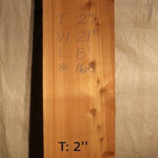Western Red Cedar 2 in X 21 in X 8'