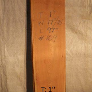 Western Red Cedar 1 in X 18 in X 8'
