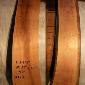 Western Red Cedar 3.5 in X 27 in X 8'