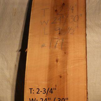 Western Red Cedar 2.75 in X 27 in X 8'
