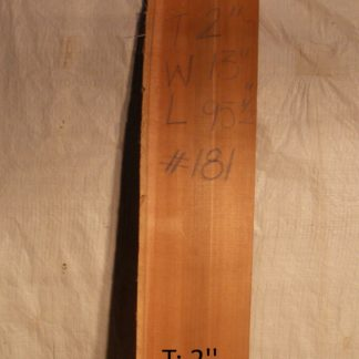 Western Red Cedar 2 in X 13 in X 8'