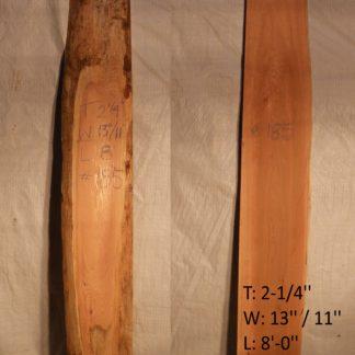 Western Red Cedar 2.25 in X 12 in X 8'
