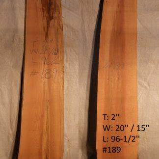 Western Red Cedar 2 in X 18 in X 8'