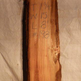 Western Red Cedar 1.75 in X 15 in X 8'
