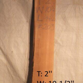 Western Red Cedar 2 in X 10 in X 8'