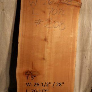 Western Red Cedar 5 in X 27 in X 6'