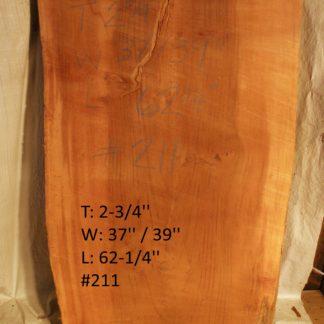 Western Red Cedar 2.75 in X 38 in X 5'