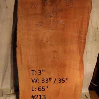Western Red Cedar 3 in X 34 in X 5'