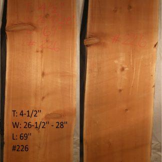 Western Red Cedar 4.5 in X 27 in X 6'