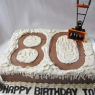 Snow Blower Cake