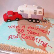 Camper 50th anniversary cake