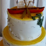 Birchbark & Beer wedding cake