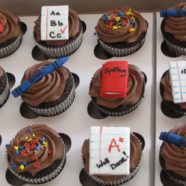 Back to school cupcakes in Muskoka