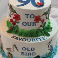 Bird lover's birthday cake