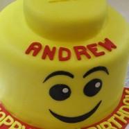 Giant Lego Head Cake