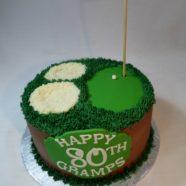 80th golf cake
