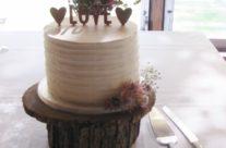 Rustic buttercream cutting cake
