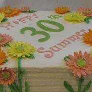 Gerber daisy cake in Muskoka