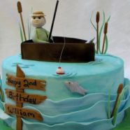 Little fisherman birthday cake