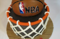 Basketball net cake